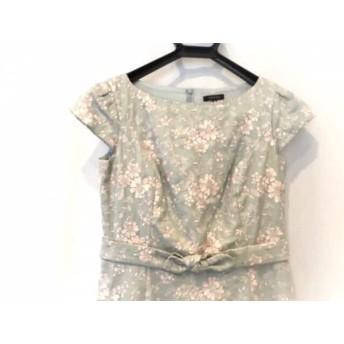 【中古】 トッカ ワンピース サイズ0 XS レディース ライトブルーベージュ ピンク 刺繍/花柄/リボン