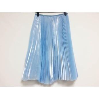 【中古】 ザシークレットクローゼット スカート サイズF レディース ライトブルー プリーツ/ラメ