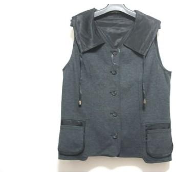 【中古】 ヒロコビス HIROKO BIS ベスト サイズ11 M レディース 美品 黒