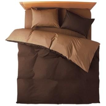 選べる7色ディープリバーシブルカラー 日本製綿100%シルクフィブロイン加工付布団カバーセット(枕カバー。掛け布団カバー) 布団カバーセット
