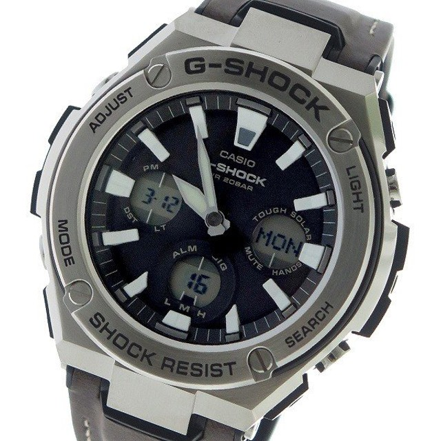 カシオ CASIO Gショック G-SHOCK Gスチール G-STEEL クオーツ メンズ 腕時計 GST-S130L-1A ブラック ブラック