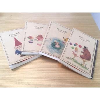 文庫本 ブックカバー 4柄セット クラフト紙