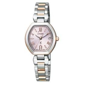 シチズン CITIZEN クロスシー エコ ドライブ 電波時計 レディース 腕時計 ES8054-50W 国内正規 ピンクゴールド