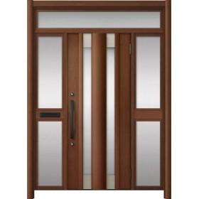 玄関ドア リシェント3 アルミ ランマ付  C14N型 両袖中桟付ポスト付 W:1,400~1,895mm × H:1,973~2,300mm LIXIL リクシル TOSTEM