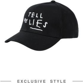 《期間限定 セール開催中》MADE IN CATTELAND Unisex 帽子 ブラック one size コットン 100% Confusion Party X YOOX