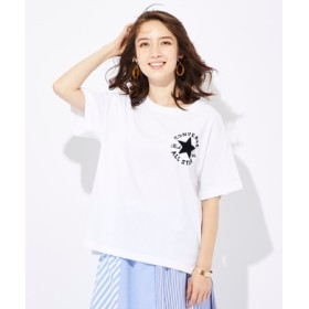 CONVERSE 胸ロゴ刺繍Tシャツ レディース オフシロ