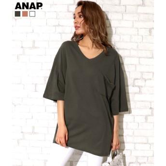 ANAP(アナップ)ポケットBIG Tシャツ