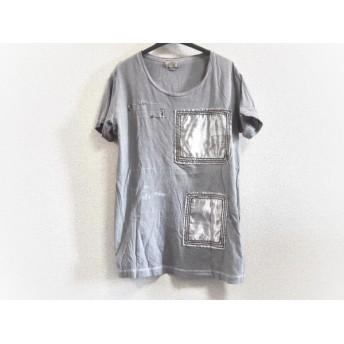 【中古】 ディーゼル DIESEL 半袖Tシャツ サイズS メンズ ライトグレー スタッズ