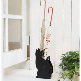 玄関でかわいいお出迎え ネコのコンパクトかさ立て フェリシモ FELISSIMO【送料無料】