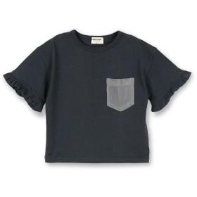 【40%OFF】 ブランシェス バタフライスリーブ半袖Tシャツ(90~140cm) レディース ブラック 120cm 【branshes】 【セール開催中】