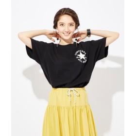 CONVERSE 胸ロゴ刺繍Tシャツ レディース ブラック