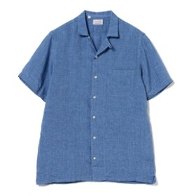 GUY ROVER / リネン オープンカラーシャツ メンズ カジュアルシャツ BLUE/5 XL