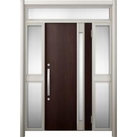 玄関ドア リシェント3 断熱 K4 M78型 両袖ランマ付中桟付ポスト無 W:1,030~1,695mm × H:1,974~2,300mm リクシル
