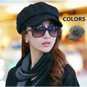 ベレー帽婦人帽子秋冬キャスケットレディースセットフェルトハット折りたたみ小顔効果つば付きベレー帽キャップカジュアル