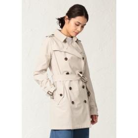 SANYO COAT <Spring Coat>コットンソロタッサーショートトレンチコート トレンチコート,ライトベージュ
