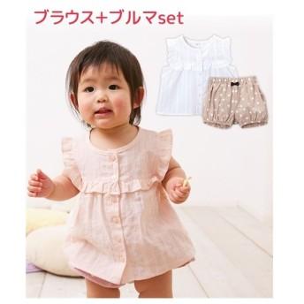 ベビー ブルマ スーツ 女の子 子供服・ 服 トップス 身長70/80cm ニッセン