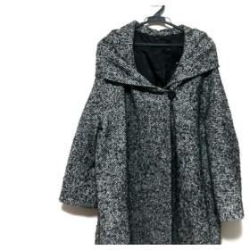 【中古】 モガ MOGA コート サイズ17 XL レディース 黒 白 冬物
