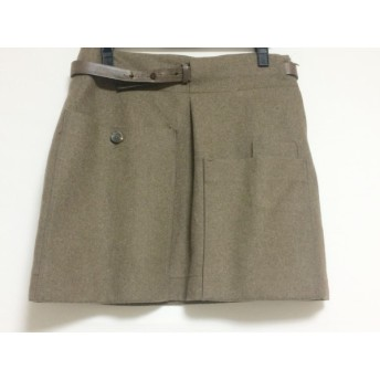 【中古】 ブルネロクチネリ BRUNELLO CUCINELLI スカート サイズ6 ( USA ) レディース ブラウン