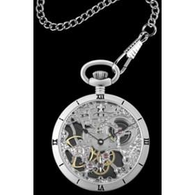 アルカフトゥーラ ARCA FUTURA 手巻き メンズ 腕時計 スケルトン 懐中時計 5074ATSSK シルバー シルバー