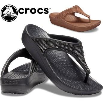 クロックス crocs サンダル レディース 205743 スローン オンブレ ディアマンテ フリップ w トングサンダル
