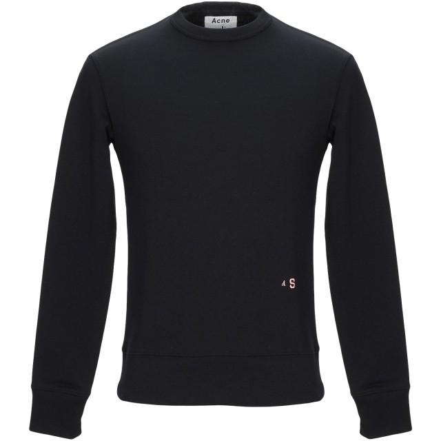 《セール開催中》ACNE STUDIOS メンズ スウェットシャツ ブラック XXS コットン 100%