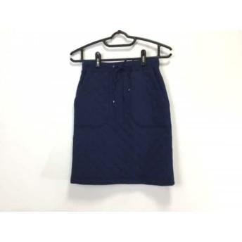 【中古】 ジムフレックス Gymphlex スカート サイズ14 XL レディース ネイビー キルティング