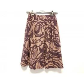 【中古】 シビラ Sybilla スカート サイズL レディース 美品 ベージュ ダークブラウン