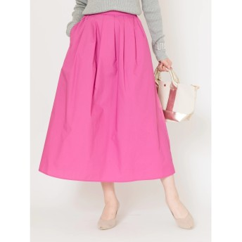 【オンワード】 Green Parks(グリーンパークス) タックカラーロングスカート Pink F レディース 【送料無料】