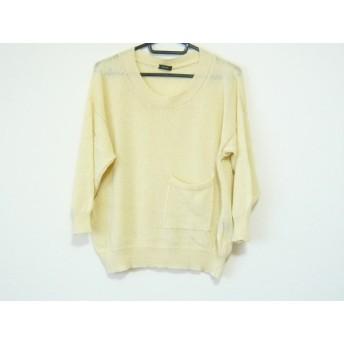 【中古】 ザノーネ ZANONE 長袖セーター サイズ40 M レディース 美品 アイボリー