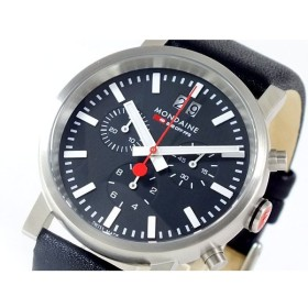 モンディーン MONDAINE クロノグラフ 腕時計 A6903030414SBB ブラック