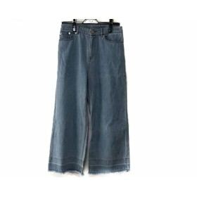 【中古】 マッキントッシュ ジーンズ サイズ38 M レディース ライトブルー ワイドジーンズ/裾フリンジ