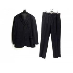 【中古】 サックスフィフスアベニュー SAKSFIFTHAVENUE シングルスーツ メンズ 黒 ストライプ