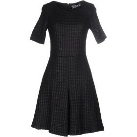 《セール開催中》ANIYE BY レディース ミニワンピース&ドレス ブラック 40 コットン 45% / アクリル 30% / ナイロン 25% / ポリエステル / ポリウレタン