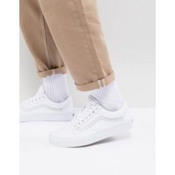 バンズ メンズ スニーカー シューズ Vans Old Skool sneakers in white White