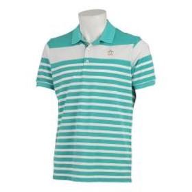 【SALE】Munsingwear(マンシングウェア)パネルボーダーサンスクリーン半袖シャツ(19SS)MGMNGA11※返品交換不可※