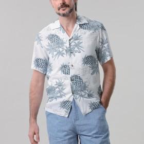 アメリカ製パイナップルアロハシャツ L
