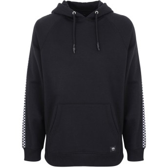 《期間限定セール開催中!》VANS メンズ スウェットシャツ ブラック S コットン 65% / レーヨン 35% MN TAPED CHECKER PO