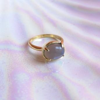 18KGP gray onyx ring