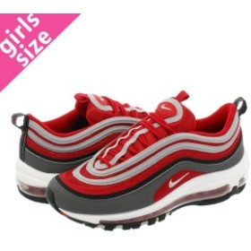NIKE AIR MAX 97 GS DARK GREY/GYM RED/WHITE