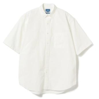 BEAMS / オックスフォード イージーフィット ボタンダウン メンズ カジュアルシャツ WHITE XL