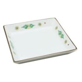 錦菱紋四角皿 B9-62