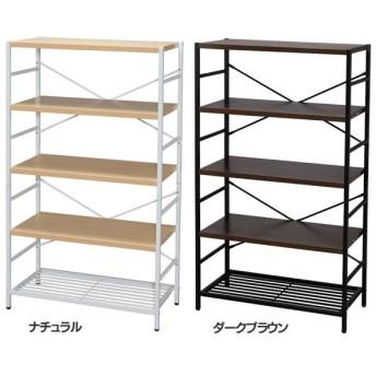 本棚 おしゃれ 大容量 収納 棚 ラック アイアン シェルフ 5段 AJ-S5 (D)