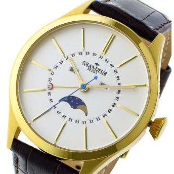 グランドール GRANDEUR プラス PLUS クオーツ メンズ 腕時計 GRP011G1 ホワイト/ゴールド ホワイト