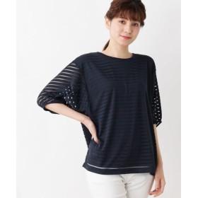 Tシャツ - SHOO・LA・RUE シアーボーダープルオーバー