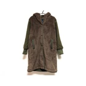 【中古】 アメリカンイーグル American Eagle コート サイズUS XS レディース カーキ ブラウン 冬物