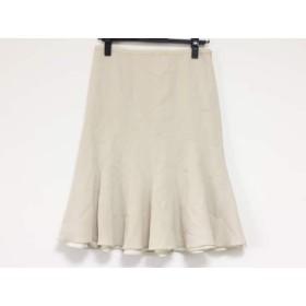 【中古】 アルマーニコレッツォーニ ARMANICOLLEZIONI スカート サイズ38 S レディース アイボリー