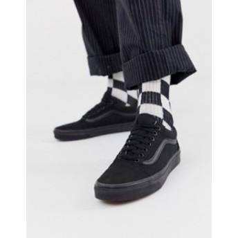 バンズ メンズ スニーカー シューズ Vans Old Skool sneakers in black Black