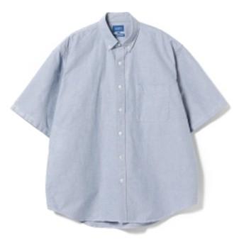 BEAMS / オックスフォード イージーフィット ボタンダウン メンズ カジュアルシャツ BLUE L
