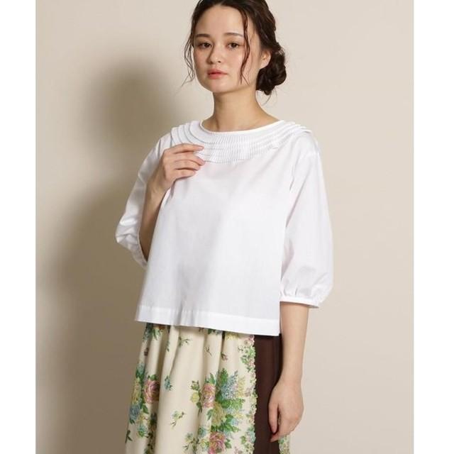 anatelier / アナトリエ haupia(ハウピア)プリーツネックデザインシャツ