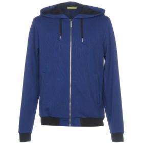 《期間限定 セール開催中》VERSACE JEANS メンズ スウェットシャツ ブルー XS ナイロン 100%